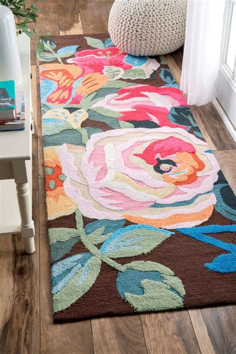 25 best ideas about floral rug on green rugs