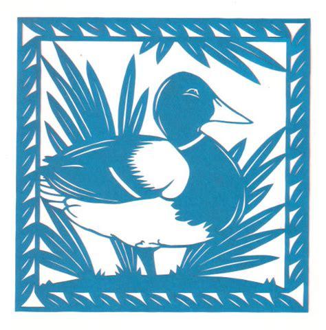 Paper Cut L by Mallard Duck Permalink Page Stencilletta Papercutting