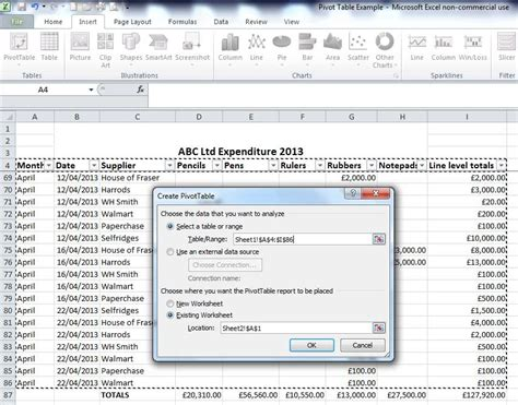 tutorial pivot table in excel pivot image 4 pivot tables in excelpivot tables in excel