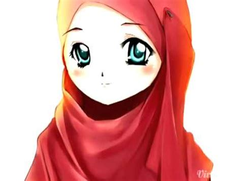 cara menggambar anime wanita cantik gambar kartun muslimah comel buzzpls