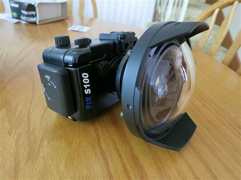 diy gopro dome port step by step how to build youtube fix canon s100 with inon h100 wa lens and dome