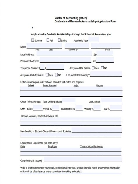 7 accounting application form sle free sle exle format