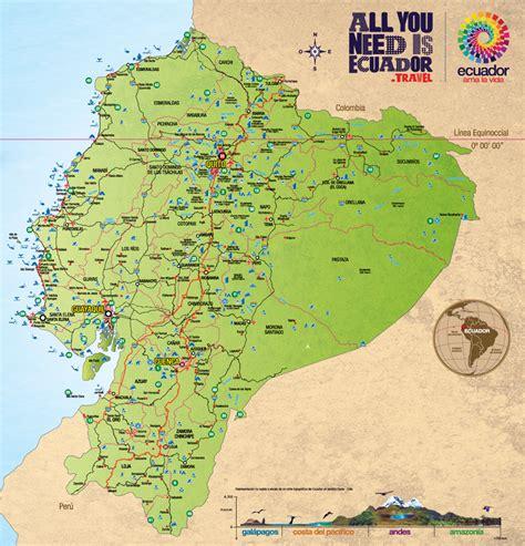 ecuador tur 205 stico mapa vial y turstico de las provincias esmeraldas carchi