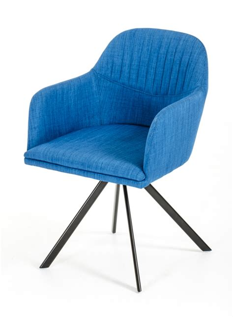 blue chair upholstery modrest synergy modern blue fabric dining arm chair