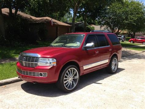 auto air conditioning service 2008 lincoln navigator navigation system sell used lincoln navigator suv 59 996 miles 24 s back up camera tv dvd player navigation in