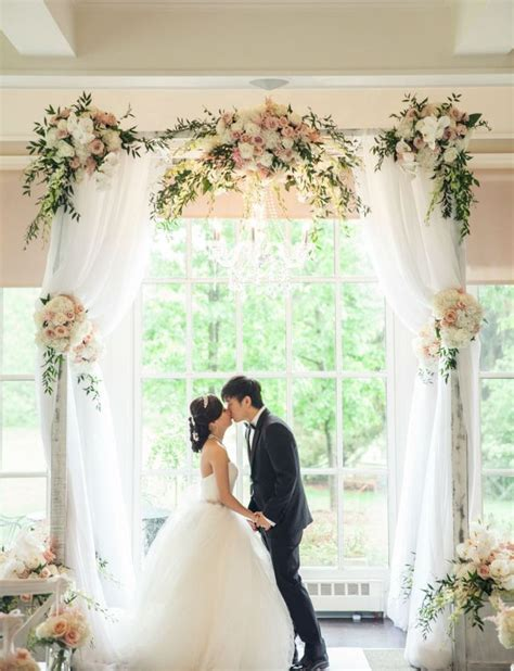 tulle wedding arch   romantic vows