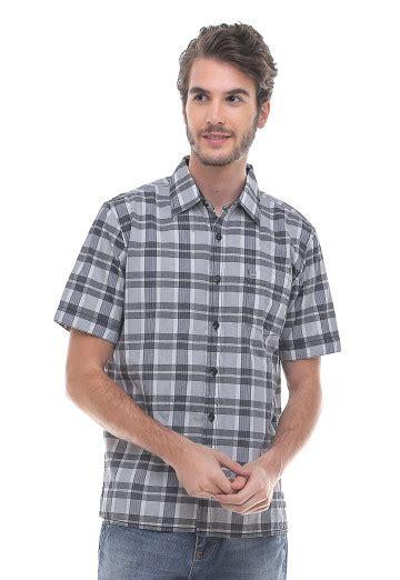 Promo Kemeja Pria Casual Reguler Fit Bahan Katun Berkualitas 68 regular fit kemeja casual motif kotak kotak abu
