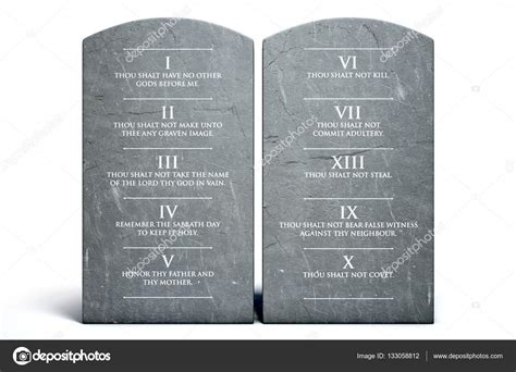 tavole comandamenti dieci comandamenti pietre foto stock 169 albund 133058812