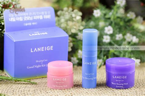 Laneige Moisture Care Miniature Set set 3 mặt nạ ngủ mini laneige sleeping care goodnight kit