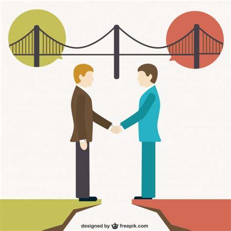building bridges between people vector free download