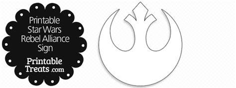 Wars Rebel Symbol Outline by Printable Wars Rebel Alliance Sign Printable Treats