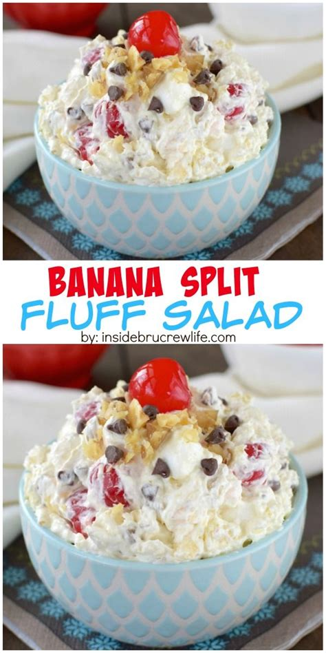 banana split fluff salad recipe fruit salads