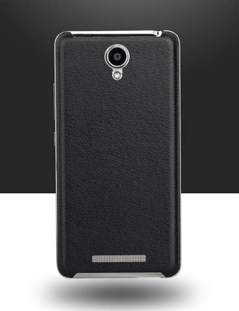 luxury pu leather back cover for xiaomi redmi note 2