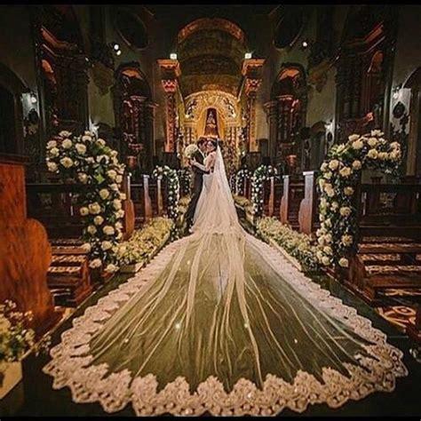vintage  meters long cathedral wedding veils  tier