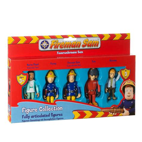 b m figures b m fireman sam fully articulated figure collection