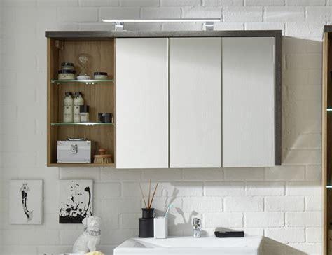 spiegelschrank design spiegelschrank bay 3 t 252 rig eiche und beton design