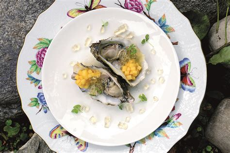 gelatina alimentare ingredienti ricetta ostrica con mela marinata e gelatina di chagne
