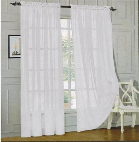 how to order curtains width elegant comfort voile84 window curtains sheer panel with 2