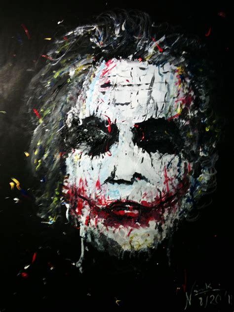 Acrylic Painting Of Joker By Inkway On Deviantart