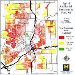 Map Flint Michigan by Amid Flint Water Crisis Gis Effort Maps City S Pipes
