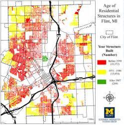 flint map amid flint water crisis gis effort maps city s pipes