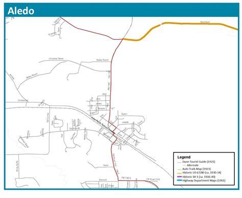 aledo texas map bankhead highway maps thc texas gov texas historical commission