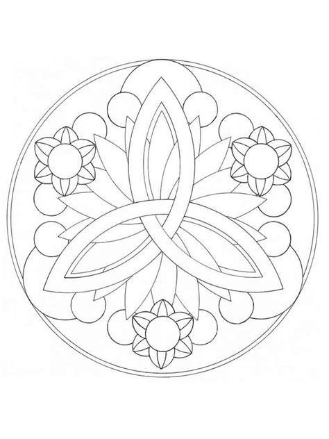 easy coloring pages to print for adults simple mandala coloring pages for adults free printable