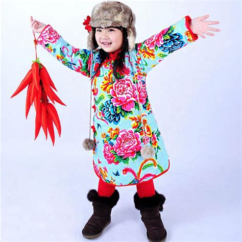 new year clothes for baby newest child baby cheongsam retro floral
