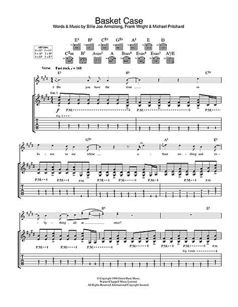 Green Day Basket Case Guitar Chords