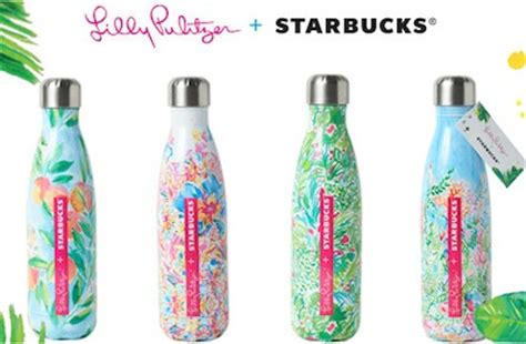 lilly pulitzer starbucks swell bottle beautiful detour never put a bucket list on hold