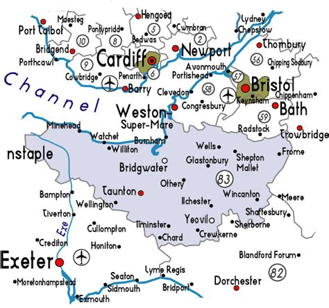 map uk somerset map of somerset in useful information about somerset