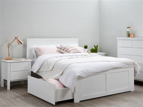 white double bed headboard double beds storage white modern b2c furniture