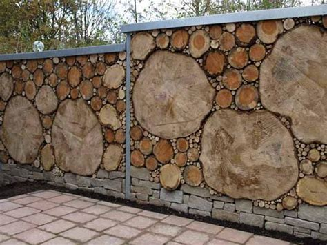 awesome wood material creating unique fence ideas designed with stripes style covering beautiful fence designs blending various materials for unique modern walls