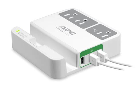 Apc Essential Surgearrest 230v With 2 Usb Charger Port 5v 2 4a apc p3u3 essential surgearrest 3 outlets 3 usb charging ports 120v electronics