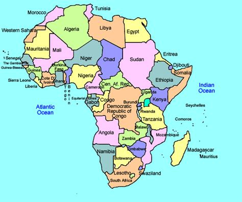 printable map africa countries printable africa map free printable maps