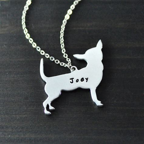 chihuahua necklace chihuahua pendant alloy cut