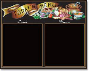 Specials Menu Template by Todays Specials Menu Board Template Shop