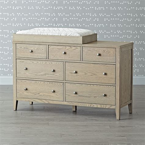 Land Of Nod Changing Table Archway 7 Drawer Grey Stain Changing Table The Land Of Nod