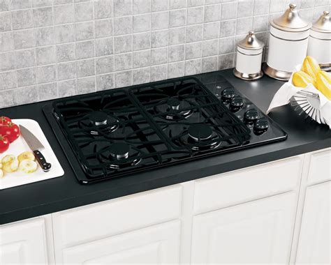 Ge Gas Cooktop Ge 30 Inch Built In Gas Cooktop In Black The Home Depot