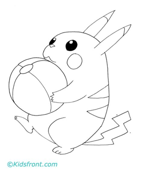 baby pikachu coloring pages coloring pages