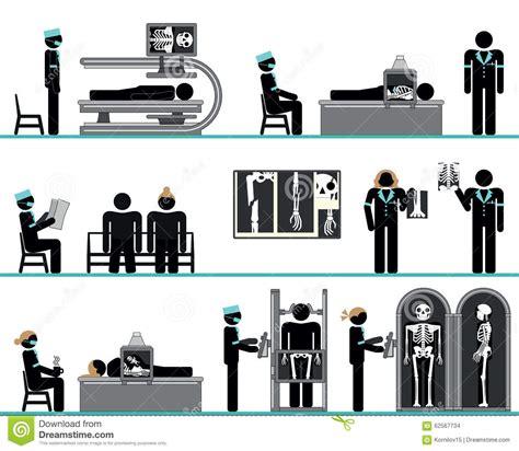 test radiologia insieme pittogramma dell instituto di radiologia