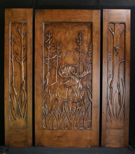 Carved Exterior Doors Carved Log Cabin Doors