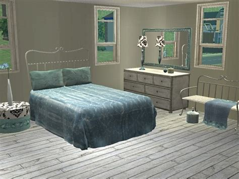 blue and silver bedroom mod the sims powder blue silver recolour of simply