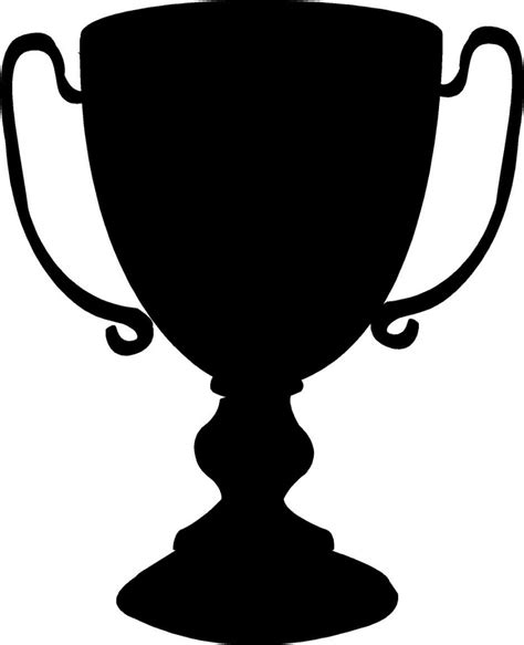Black And White Ldb trophy black and white clipart best