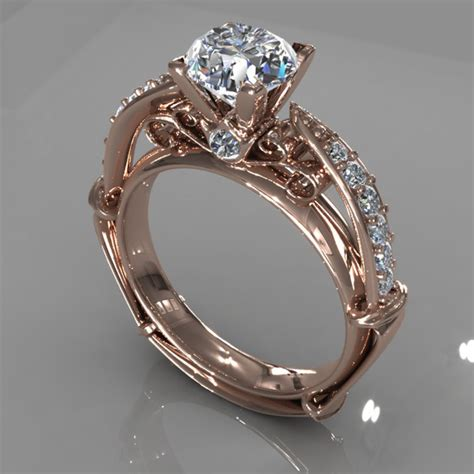 3d Home Design Game diamond ring creative 011 by jewelrycadcam168 3docean