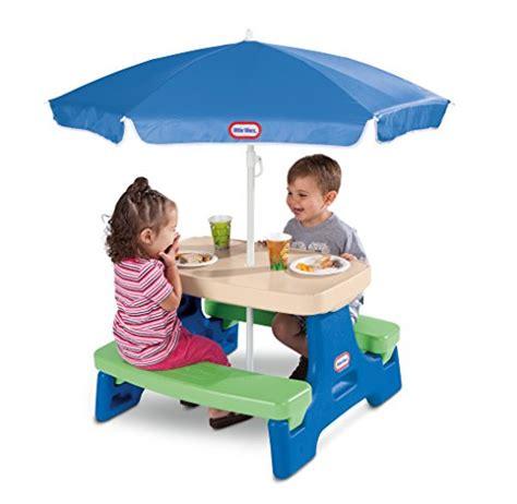 Little Tikes Easy Store Junior Picnic Table With Umbrella