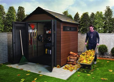 keter plastic composite outdoor storage shed  sheds