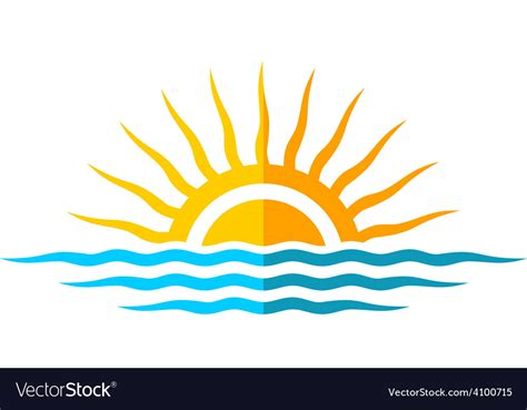 sea wave logos vector free stock vector travel logo template sun with sea waves royalty free vector