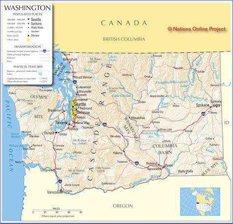 washington state usa map washington links travel across the usa