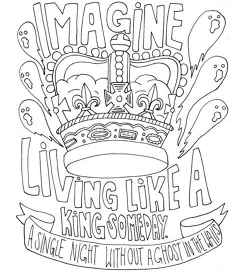 I Draw Band Lyrics Coloring Pages Band